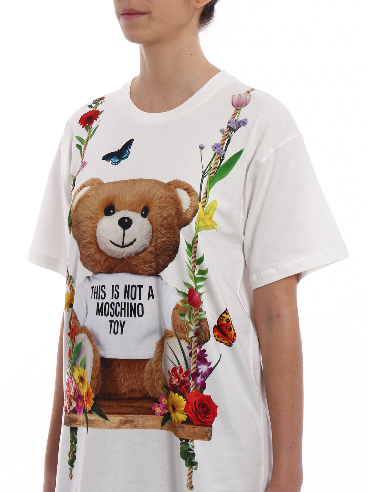 ea7b9cad415 Moschino - Printed cotton oversized Tee - t-shirts - 07050440V1001