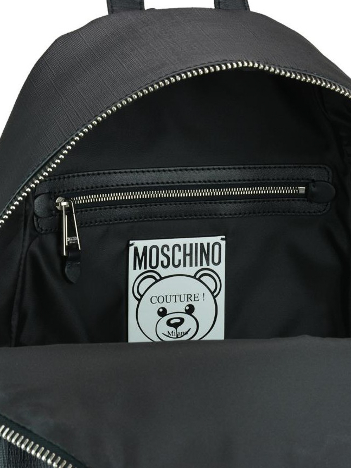 2d215cbc2387 Moschino - Safety pin Teddy Bear print black backpack - backpacks ...