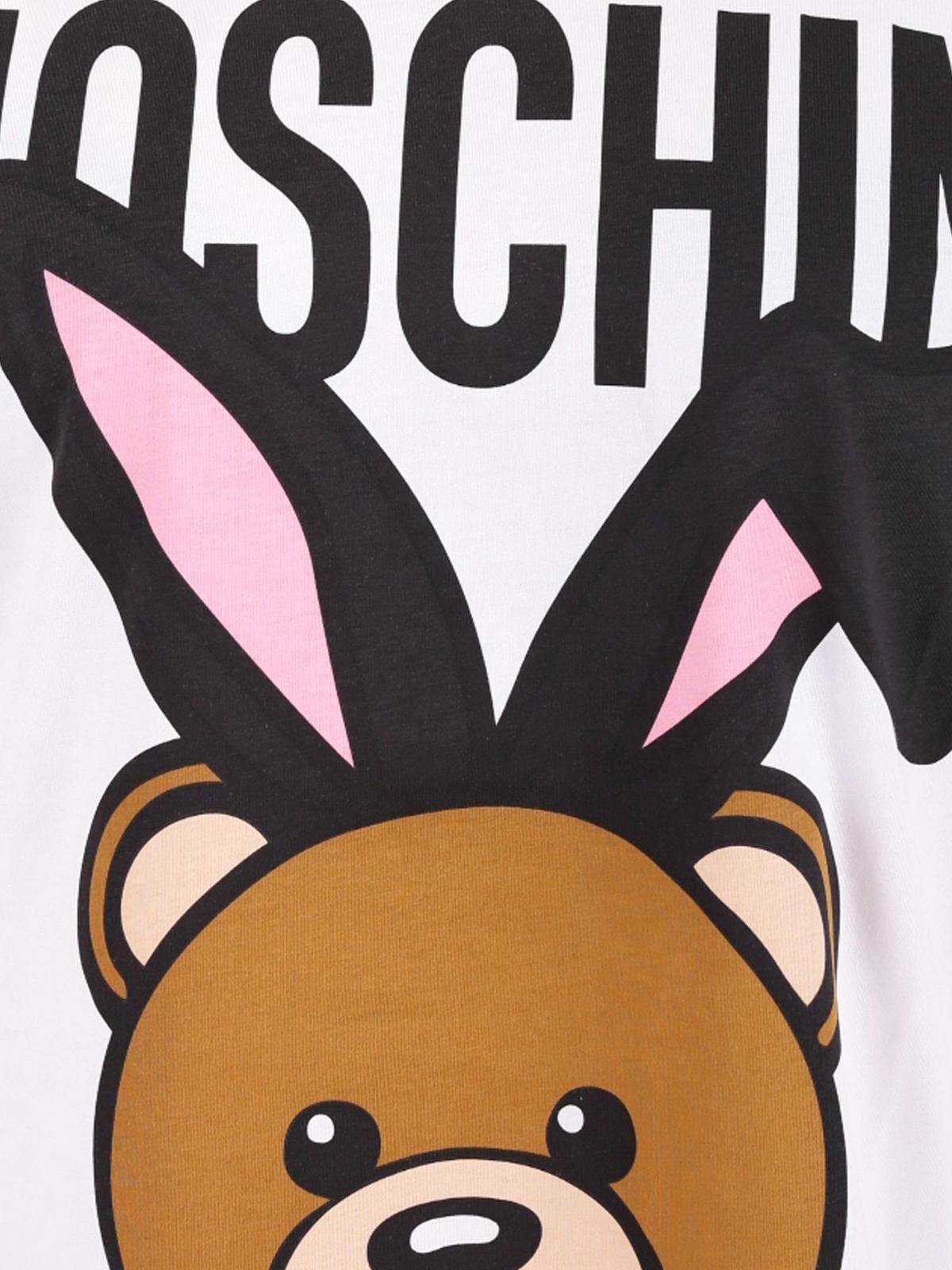 e6225b18 Moschino - Teddy Playboy maxi print T-shirt - t-shirts - V07035401001
