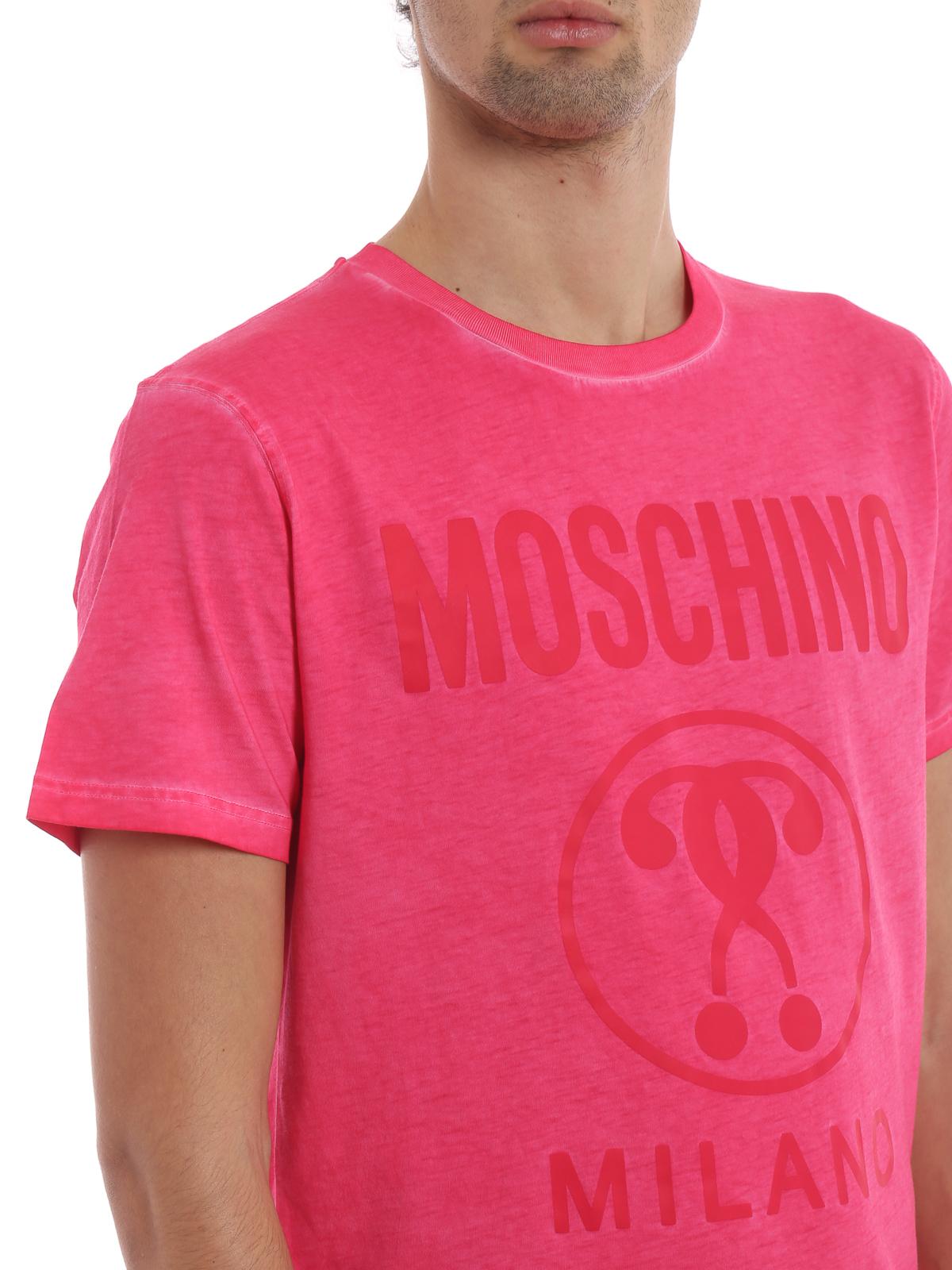 T Con Moschino Su In Estate shirt Logo Ikrix Rosa Cotone Tono rdxoWeQCB