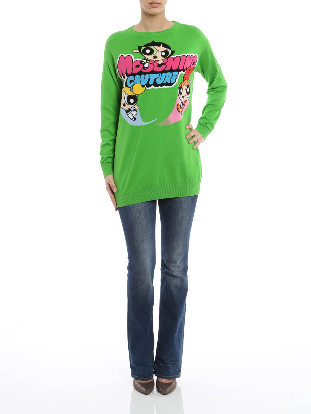 outlet store 1caad b4982 Moschino Couture - Abito in maglia Powerpuff Girl - abiti ...