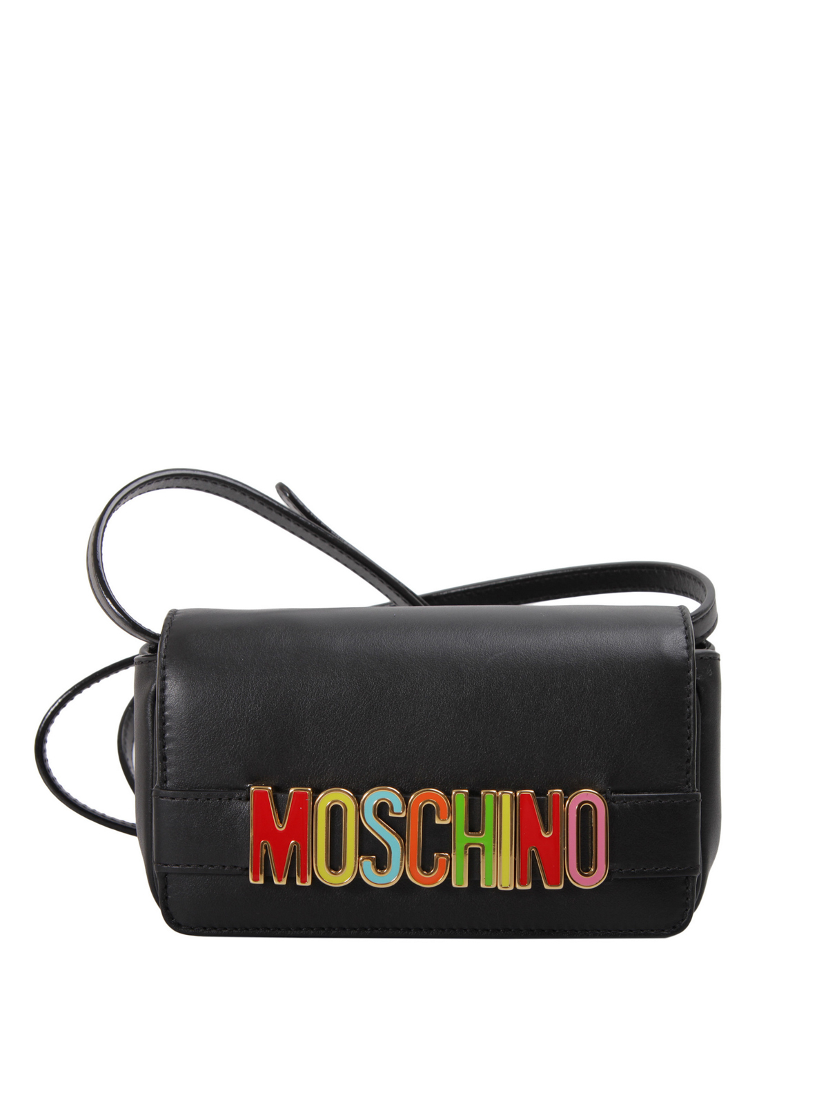 Moschino Coloured logo leather crossbody