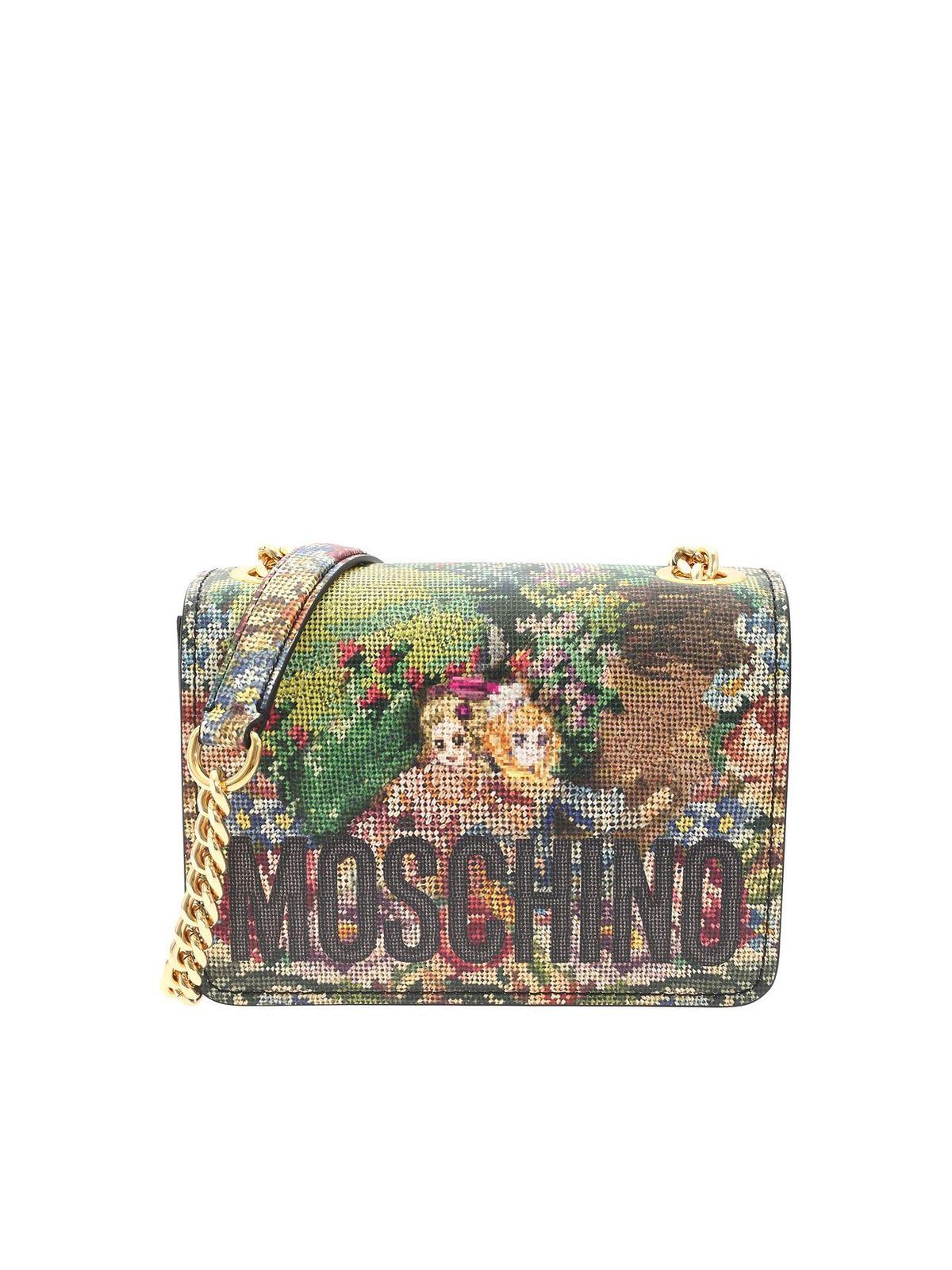 Moschino CROSS STITCH ANIME MULTICOLOR BAG