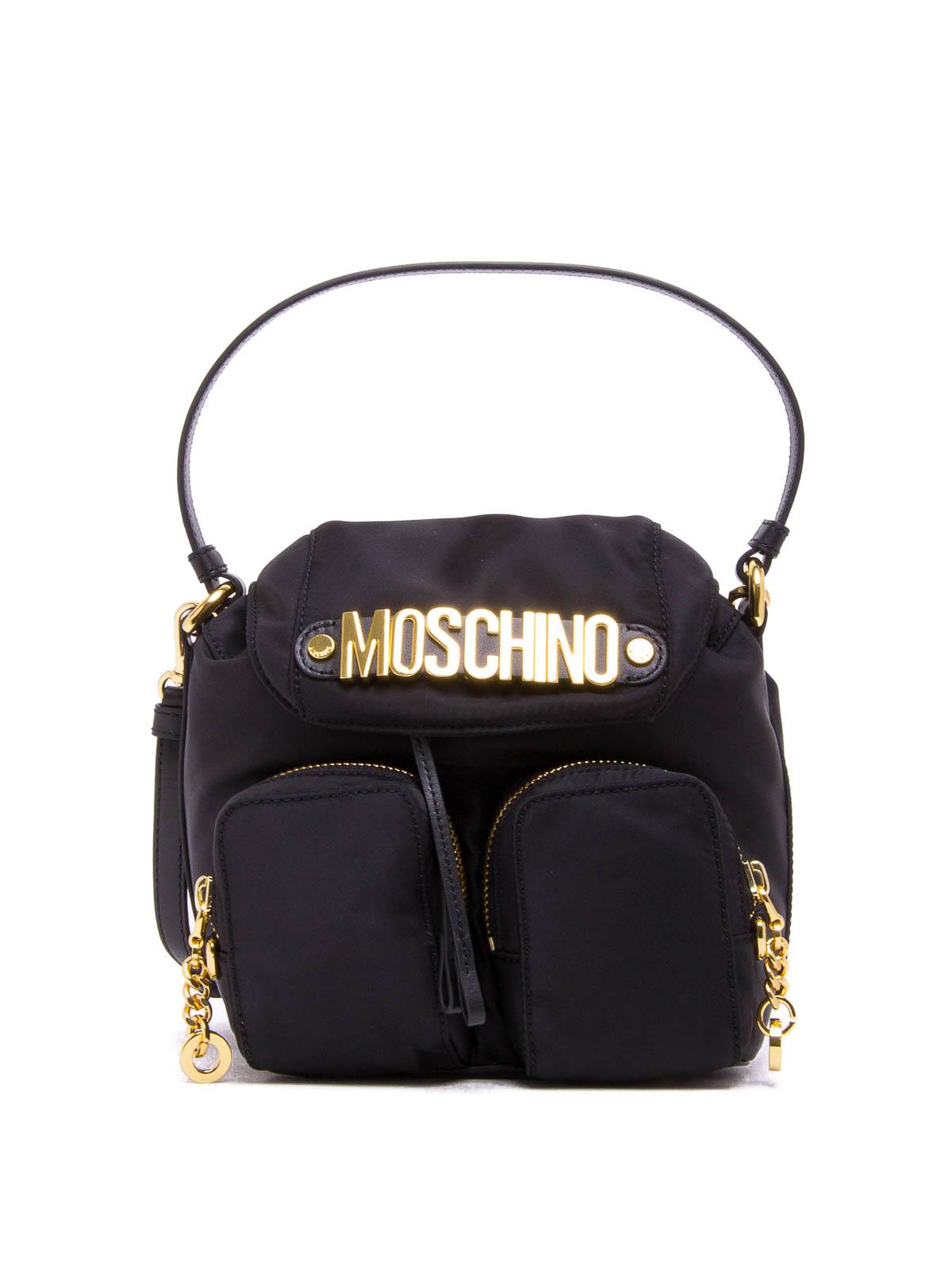 5909d36743 Moschino - Logo lettering nylon crossbody - cross body bags ...