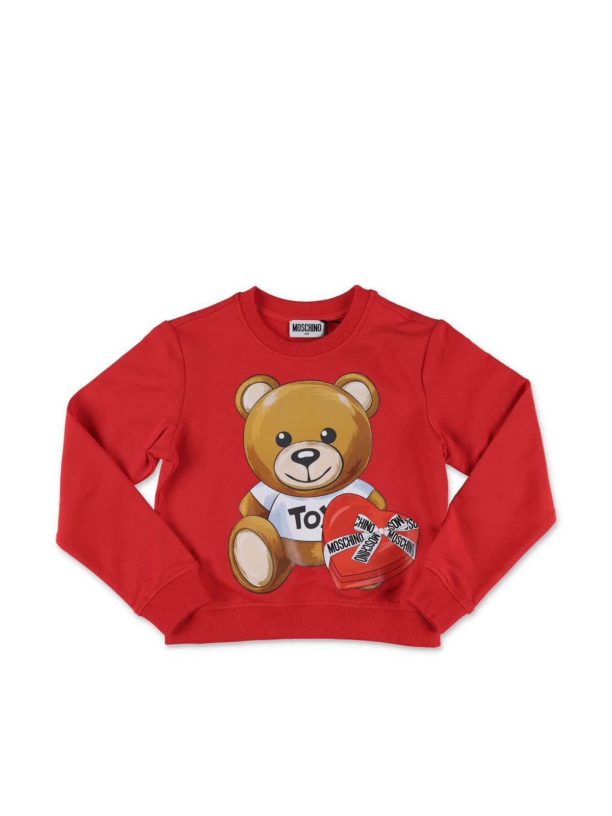 MOSCHINO RED TEDDY BEAR SWEATSHIRT