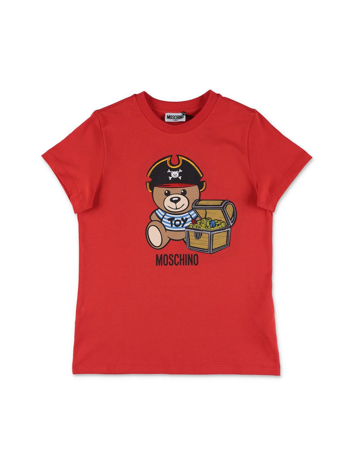 Moschino PIRATE TEDY BEAR T-SHIRT IN RED