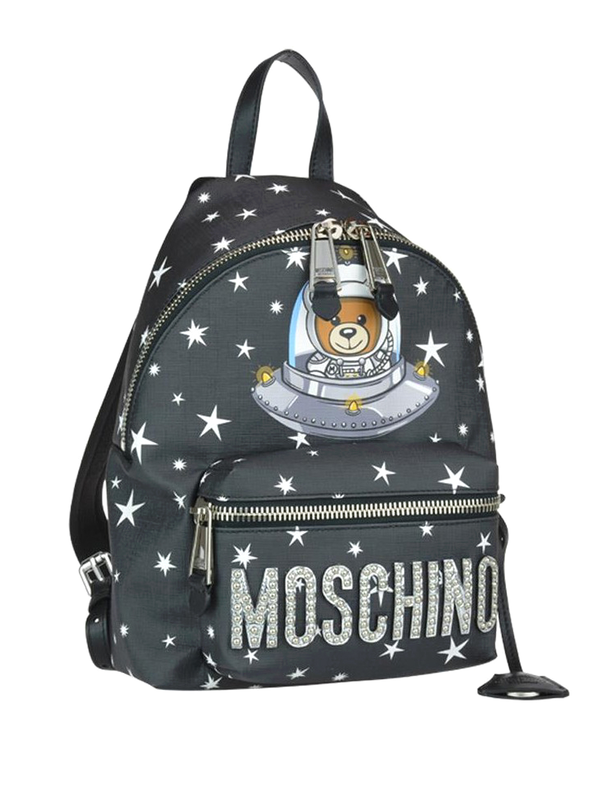 b5f4f6bb8dc0 MOSCHINO  backpacks online - Space Teddy Bear black small backpack