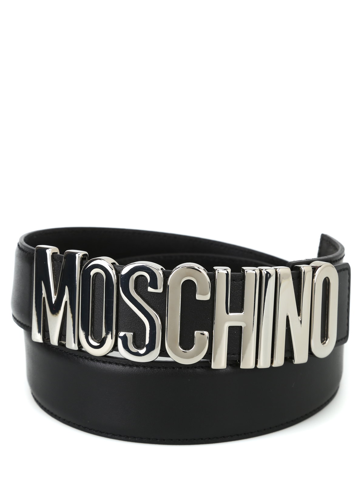 26c080ef29 Women · Men. MOSCHINO: belts online - Silver logo buckle leather belt