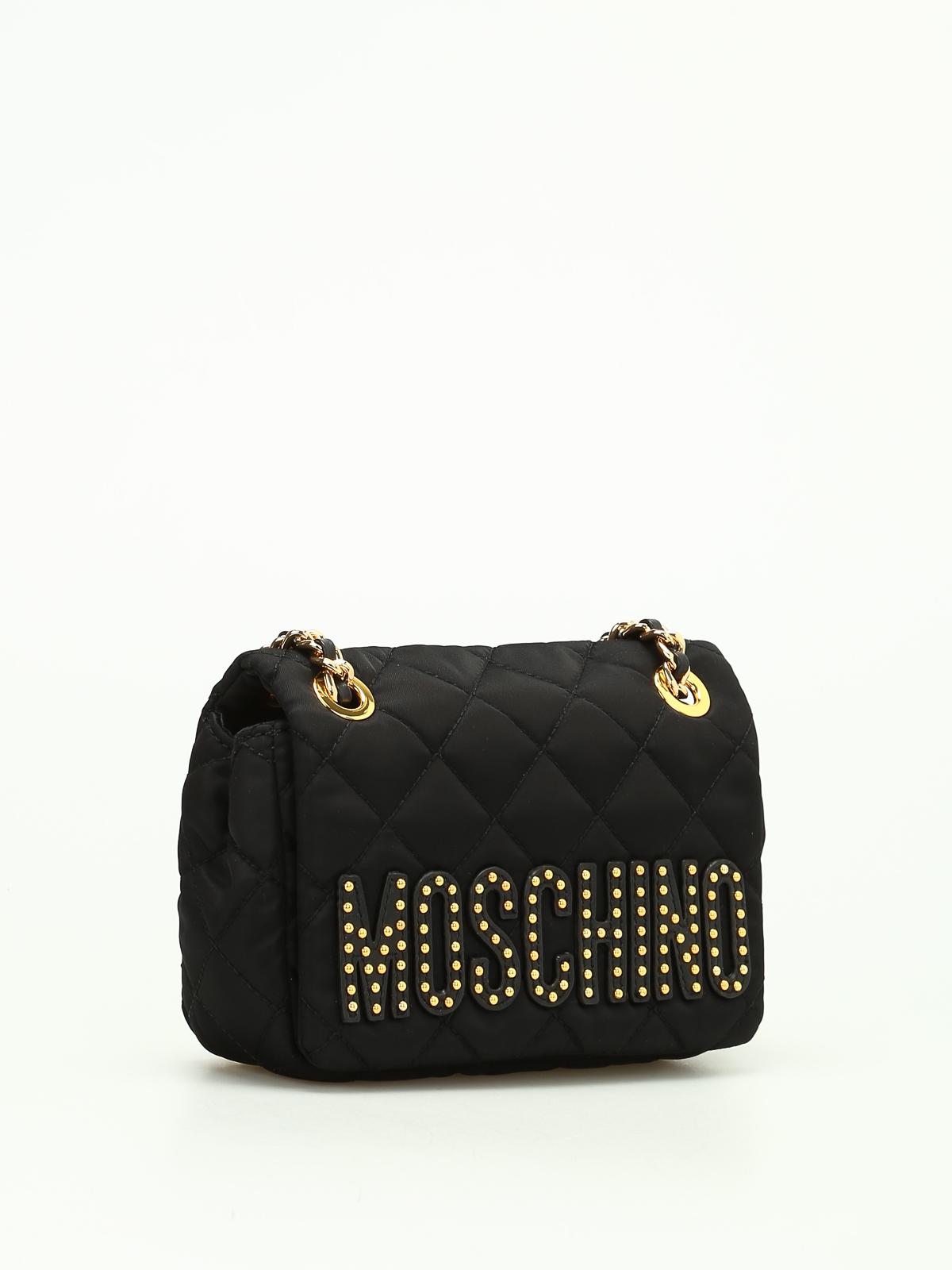 Moschino Quilted Nylon Shoulder Bag Shoulder Bags