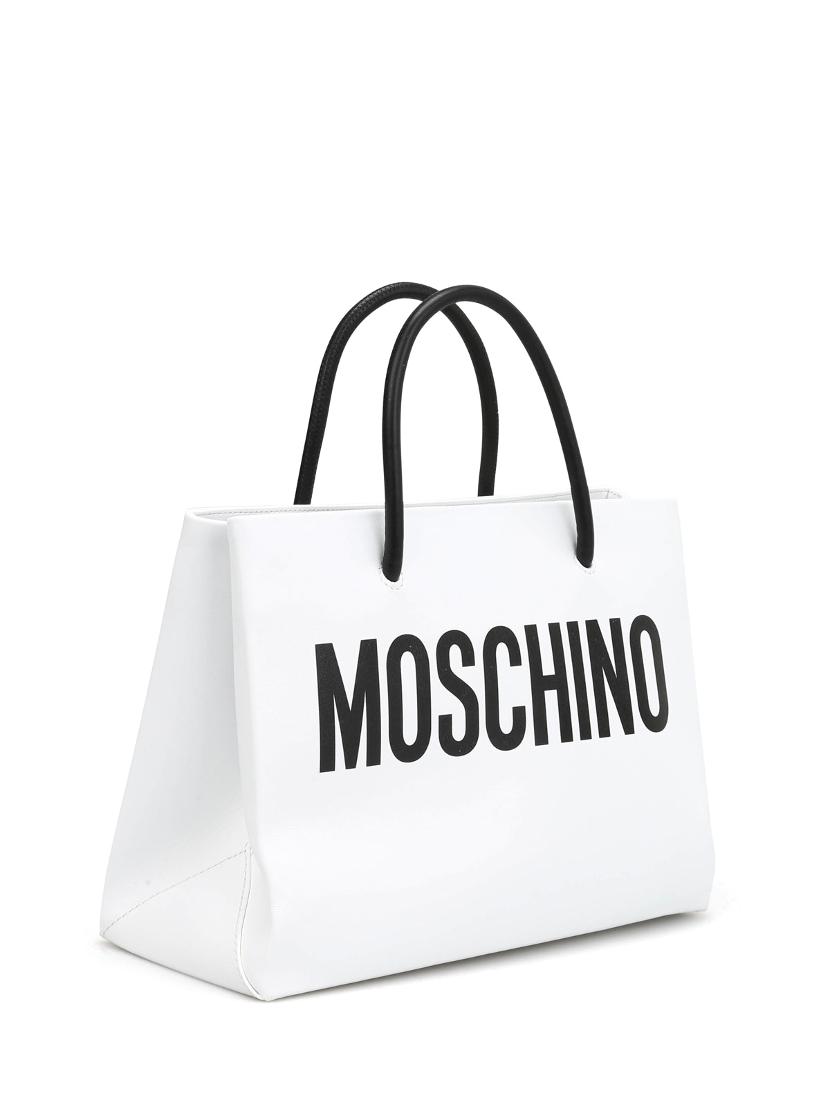 49627bd537 Moschino - Logo print leather small tote - totes bags - 741580011001