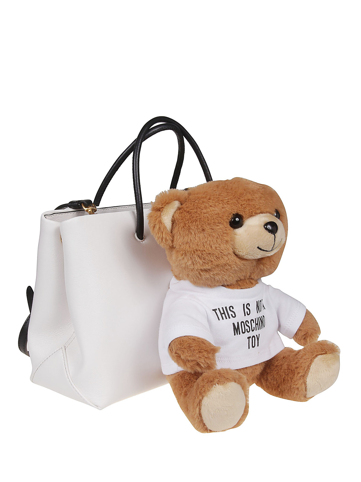 ca3310c7e5 MOSCHINO: totes bags online - White bag with detachable Teddy Bear