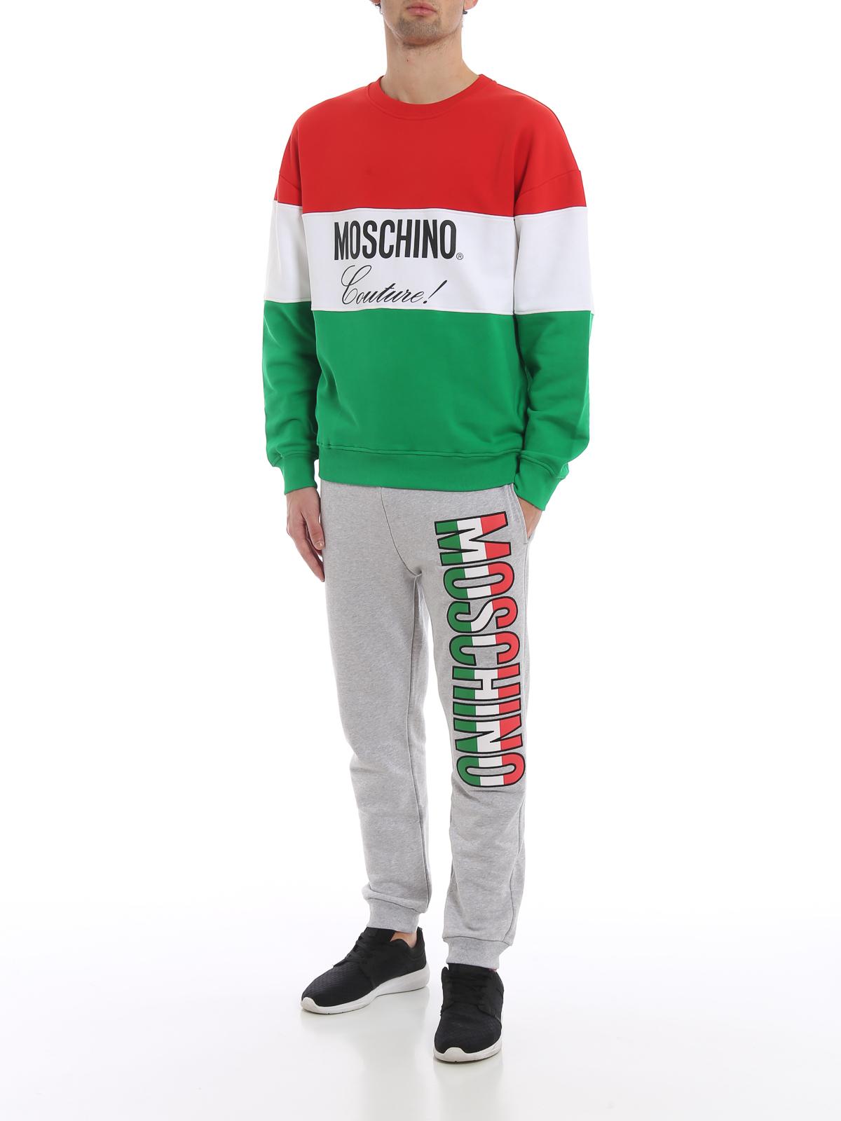 pretty nice 85b96 75170 Moschino - Pantaloni da tuta in cotone logo lettering ...