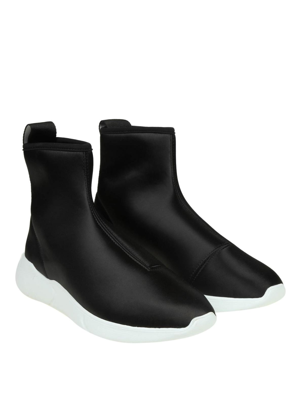 MOSCHINO  sneakers online - Sneaker a calza in raso con banda logo 742a2a5bce4