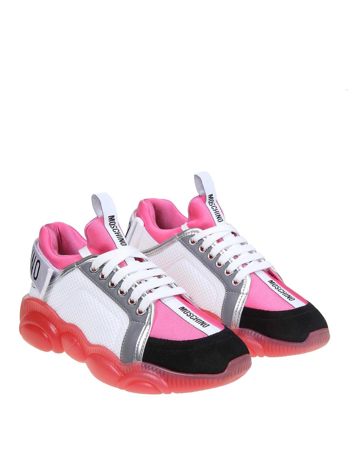 Moschino - Teddy Run pink sneakers
