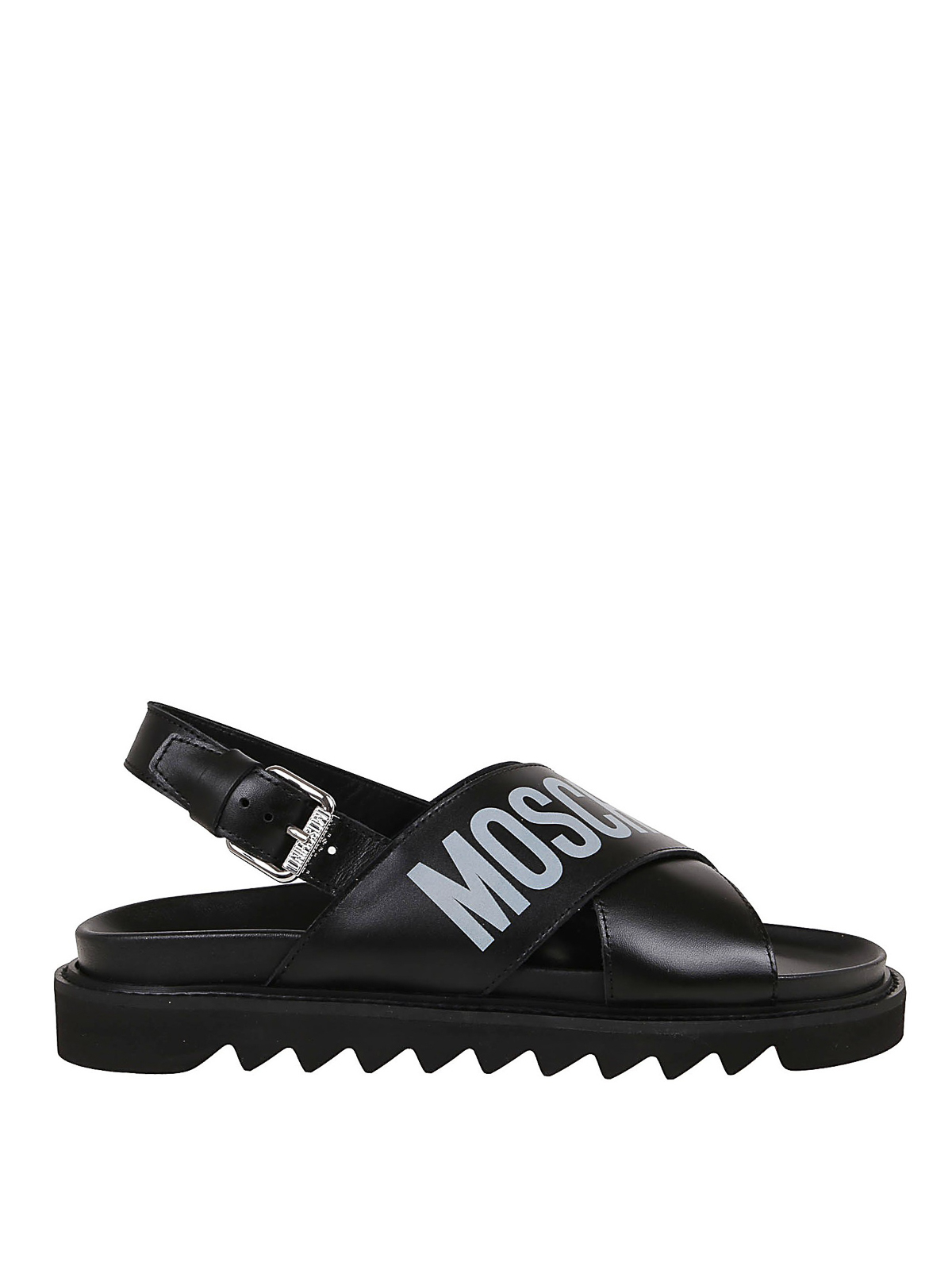 Moschino LEATHER CRISS CROSS SANDALS