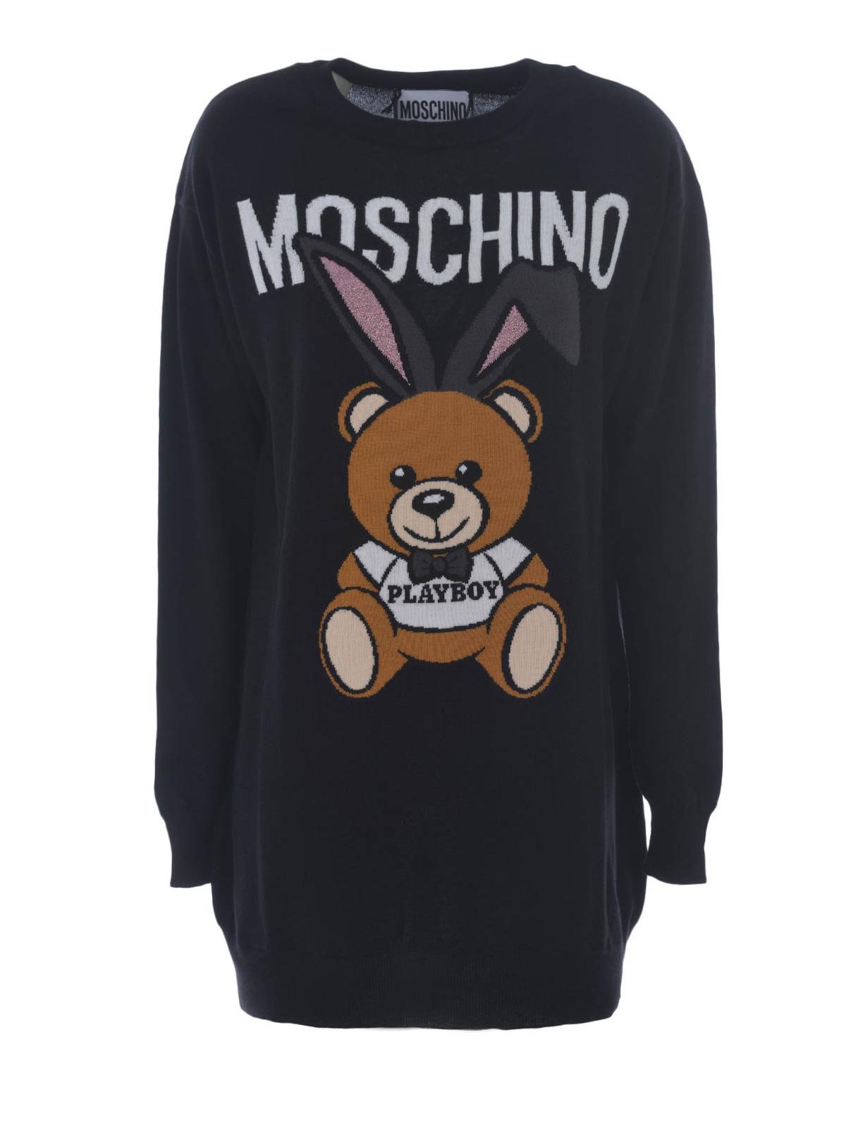 cb6e4b5d072 Moschino - Bear Playboy© intarsia dress - short dresses - 489501555
