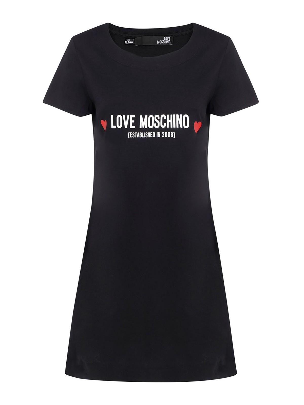 LOVE MOSCHINO SHORT T-SHIRT DRESS