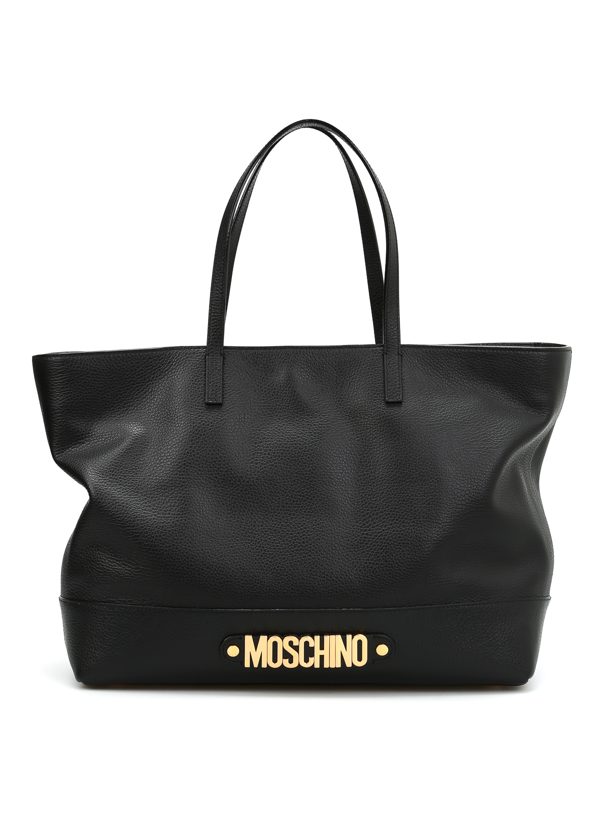 grainy leather shopper by moschino shoulder bags ikrix. Black Bedroom Furniture Sets. Home Design Ideas