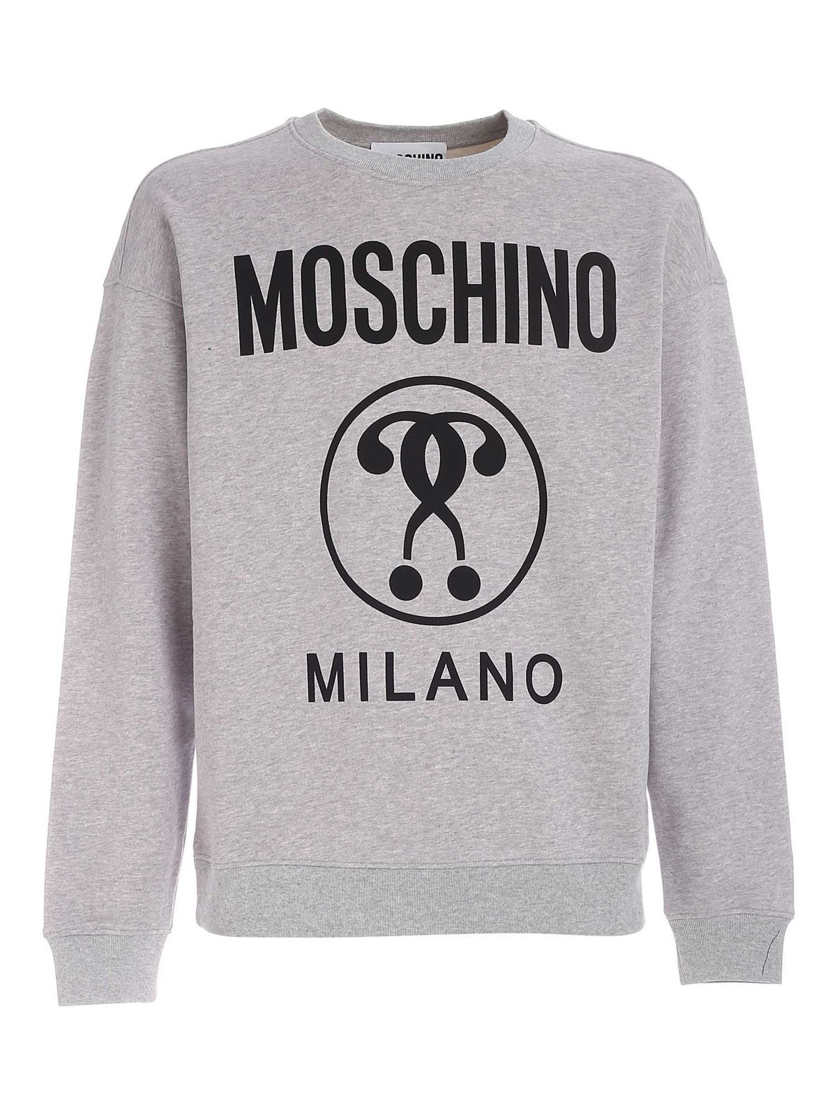 Moschino DOUBLE QUESTION MARK SWEATSHIRT IN GREY