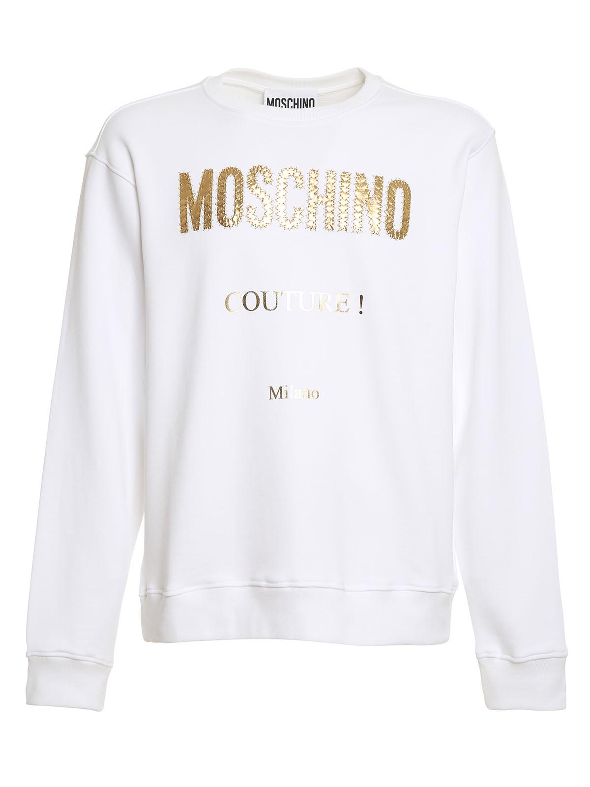 Moschino Cottons LAMINATED LOGO SWEATSHIRT
