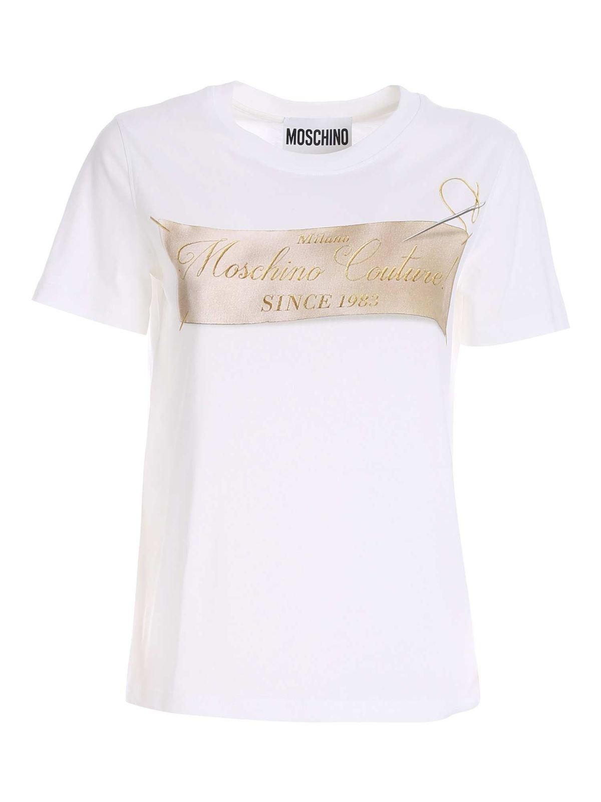 Moschino LEBEL PRINT T-SHIRT IN WHITE