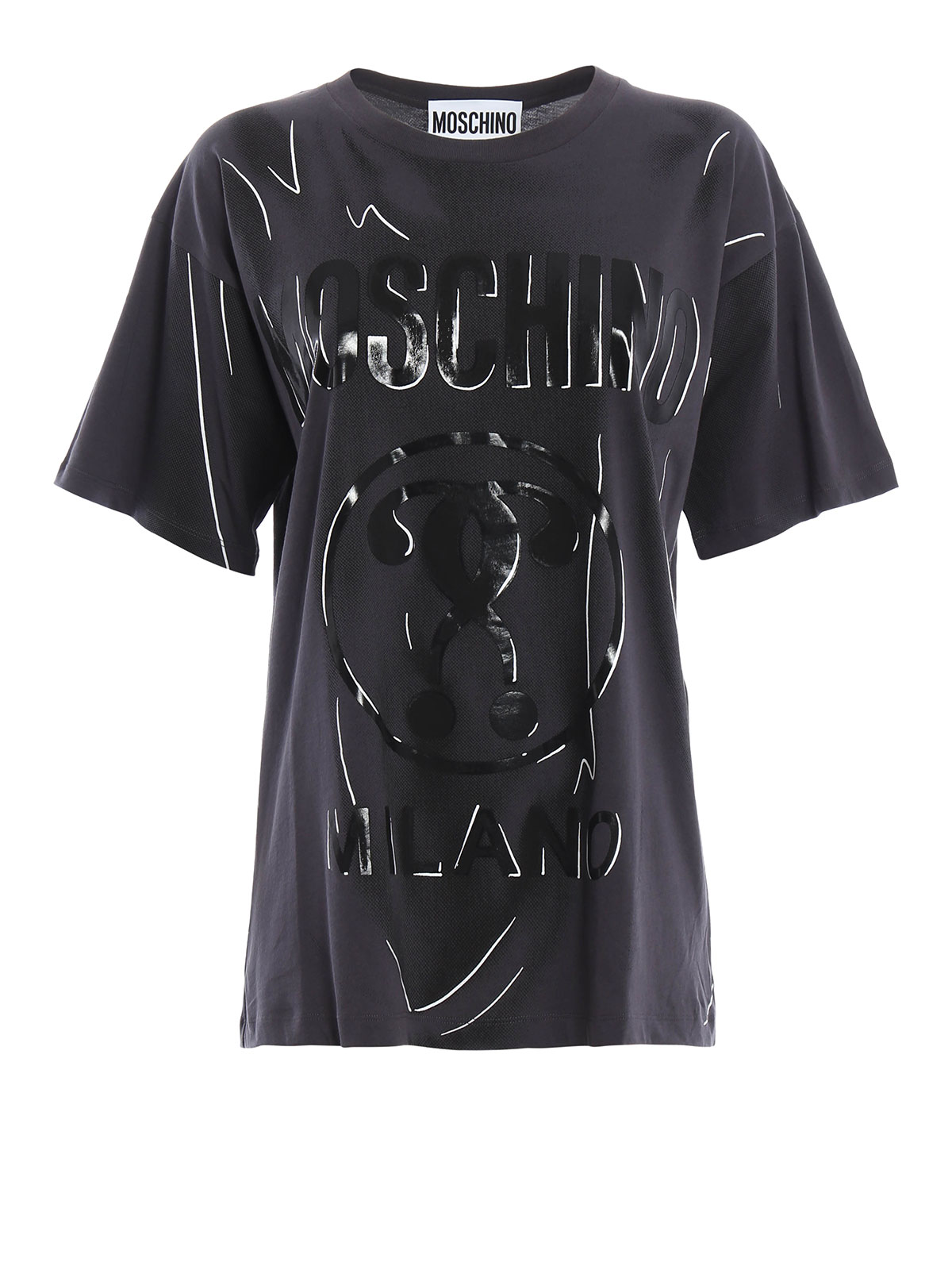 logo print t shirt by moschino t shirts ikrix. Black Bedroom Furniture Sets. Home Design Ideas