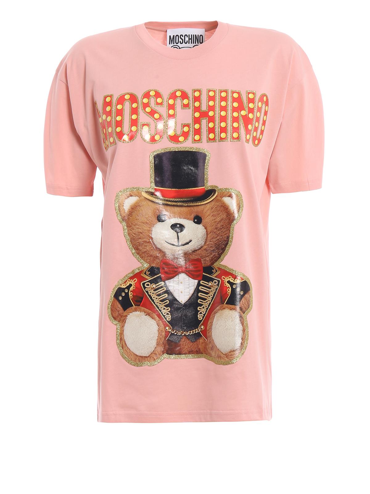 304830bb Moschino - Teddy Circus pink oversized T-shirt - t-shirts ...