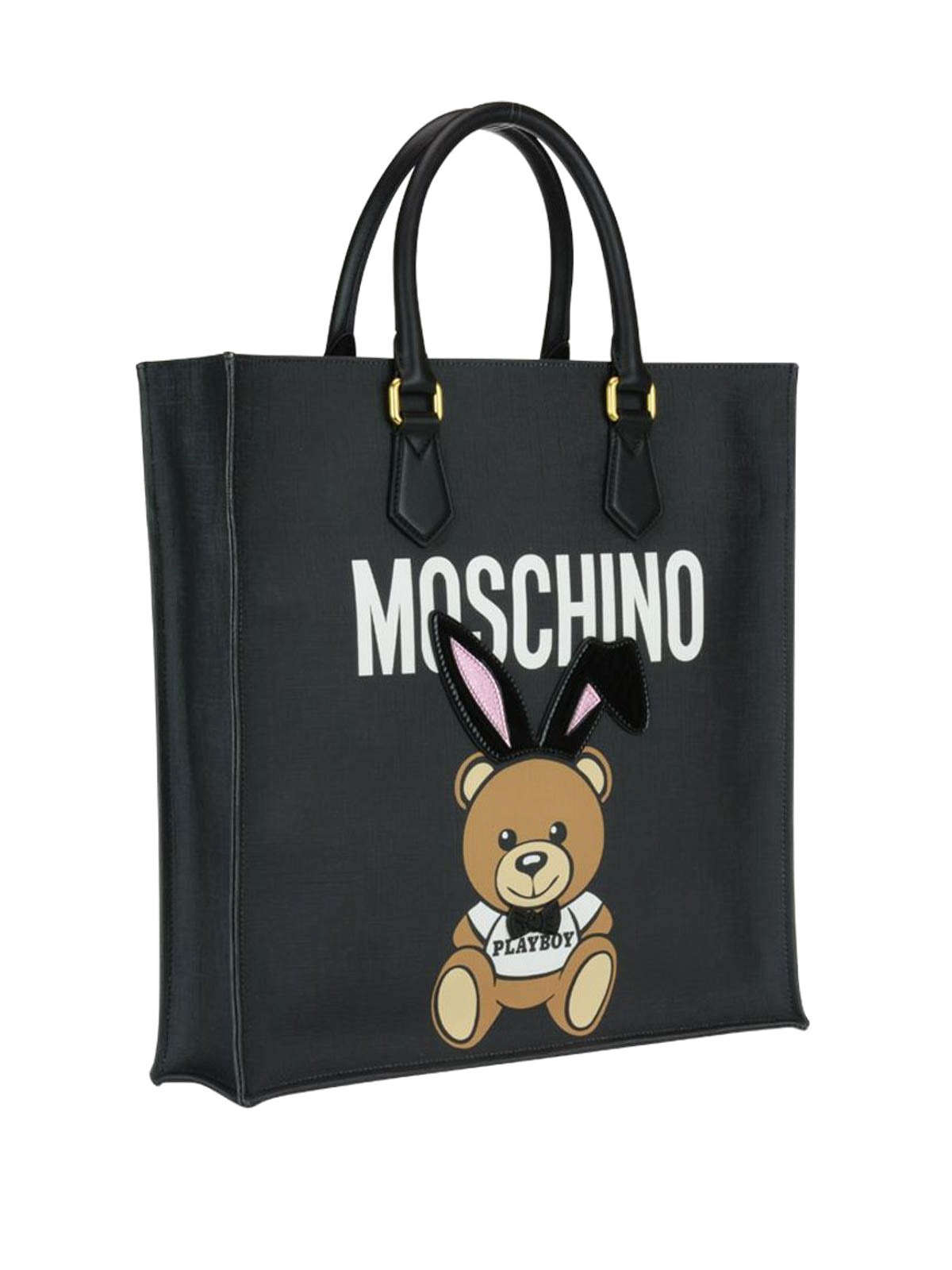 Clearance Genuine Wholesale Price Sale Online Moschino Ready to bear playboy tote bag NBshr6