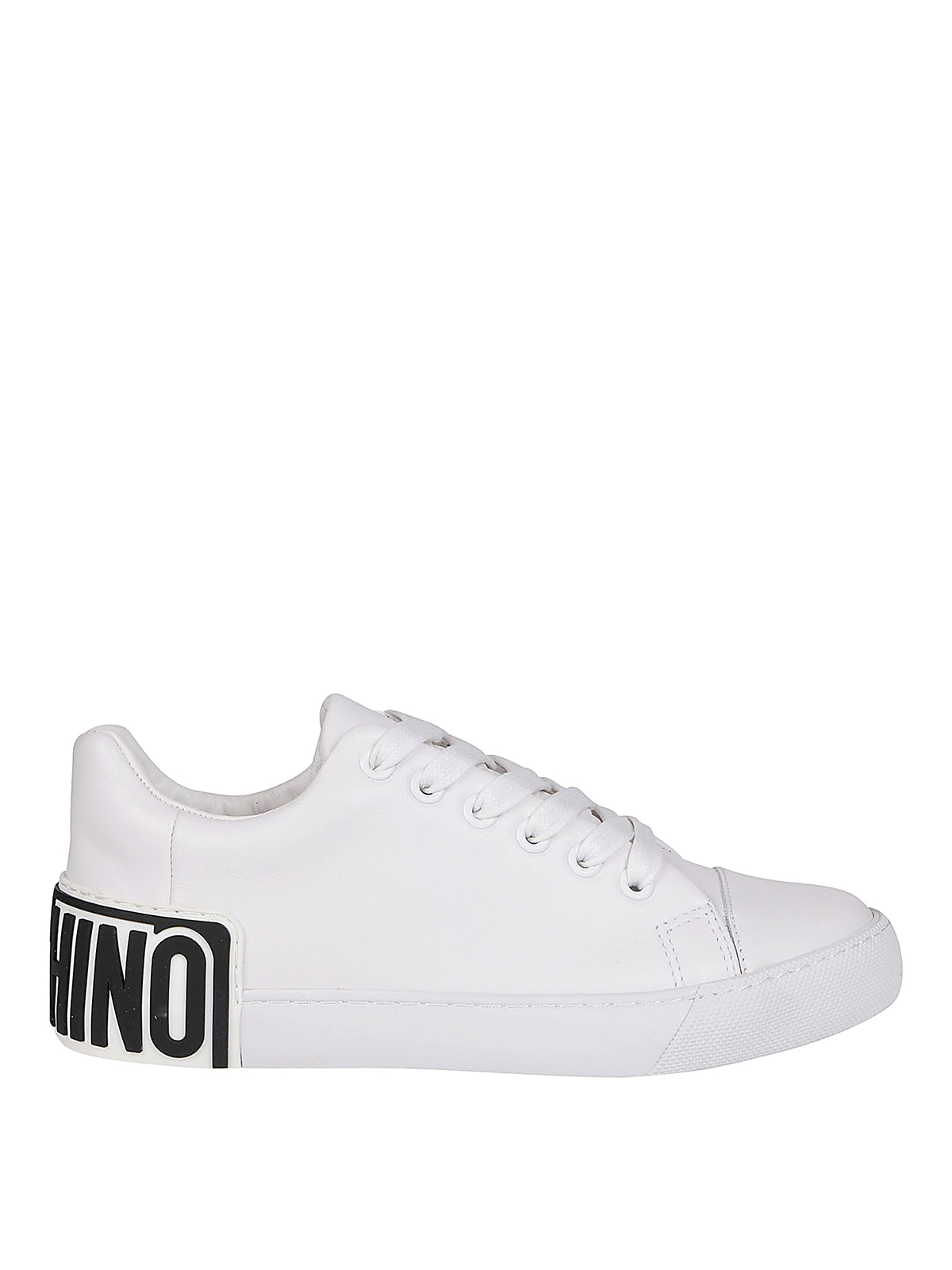 Moschino RUBBER LOGO PATCH SNEAKERS