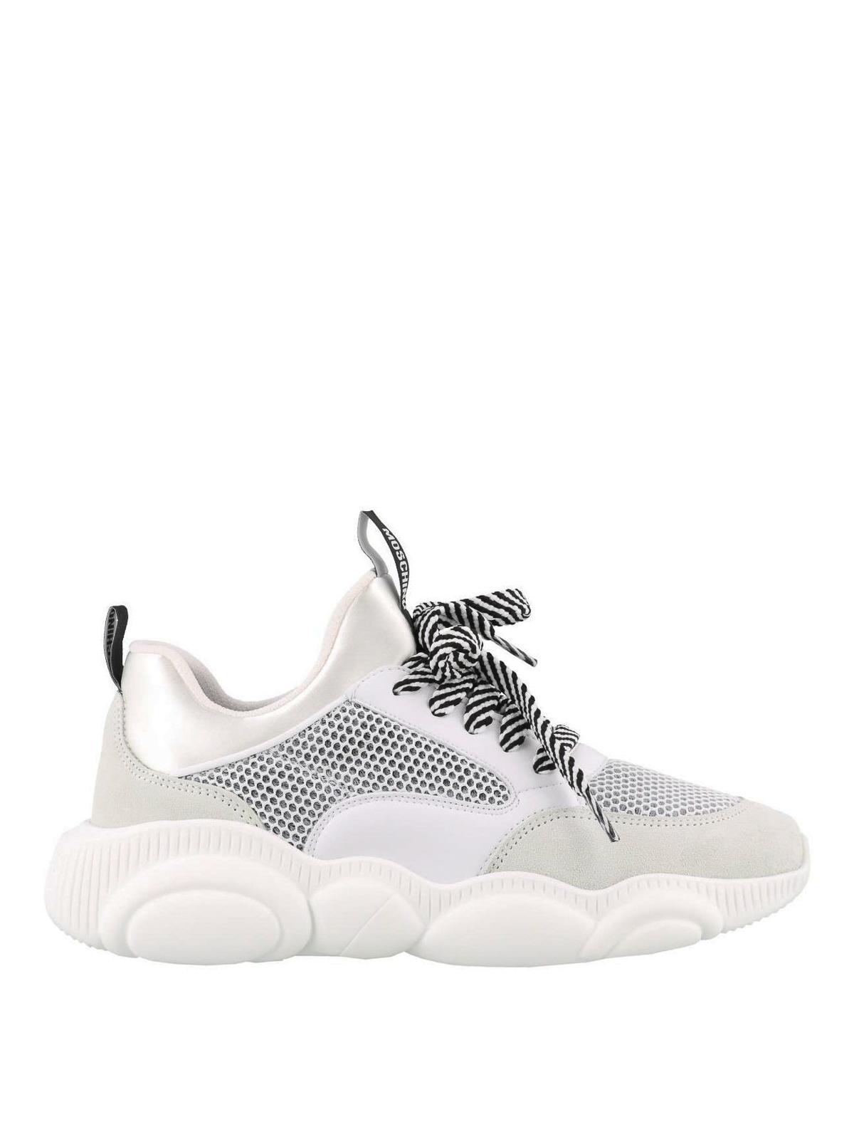 Moschino Sneaker Teddy Run bianche sneakers MA15093G17