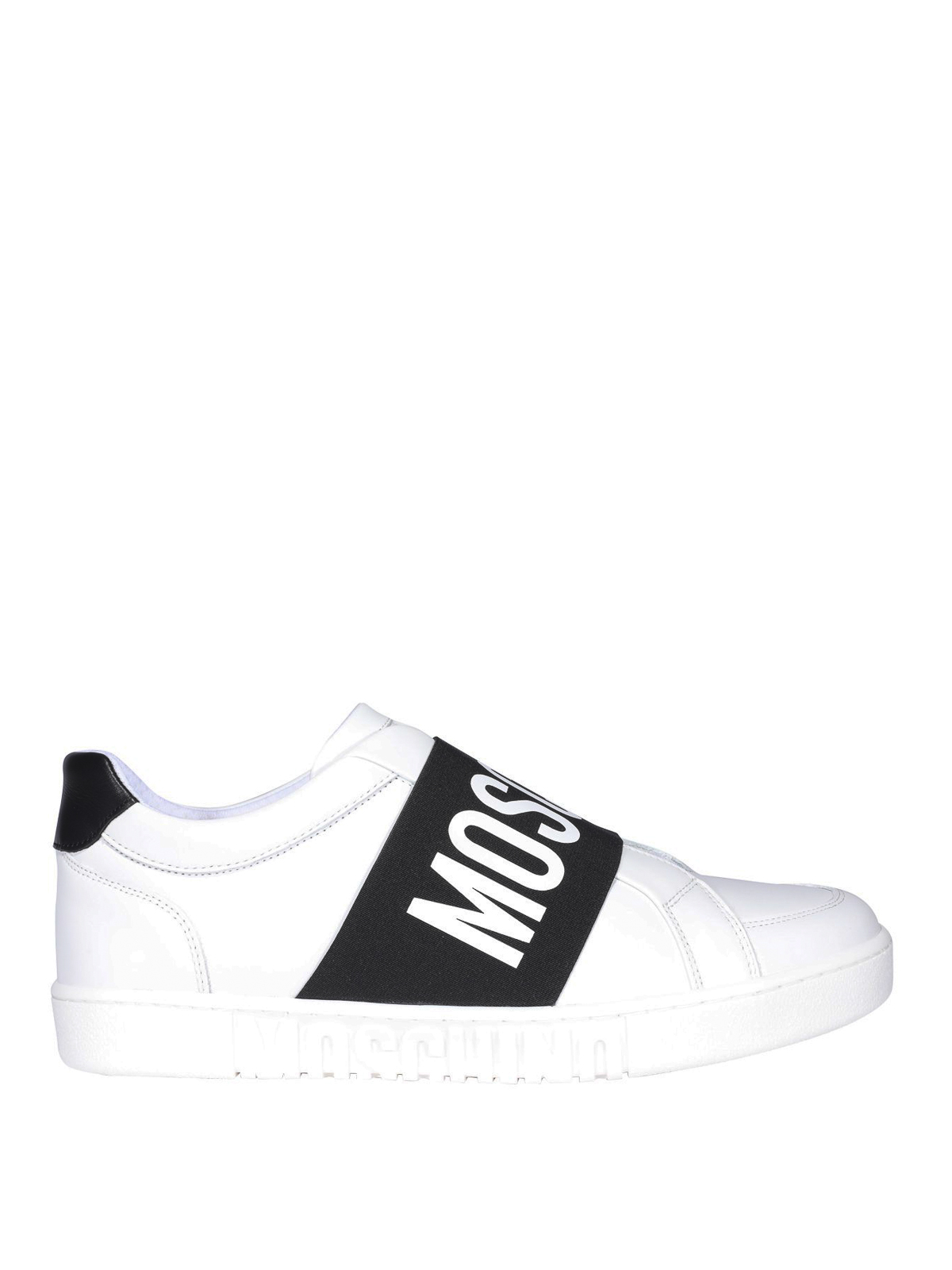Moschino Sneakers WHITE LEATHER SNEAKERS