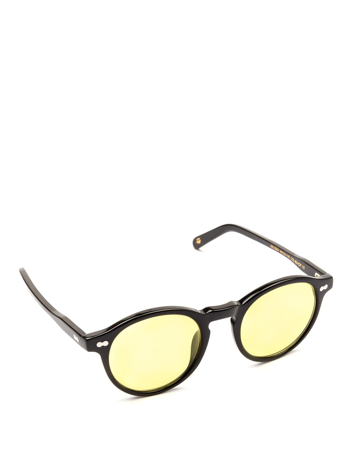 f73376a9ea Moscot - Miltzen light yellow lens black sunglasses - sunglasses ...