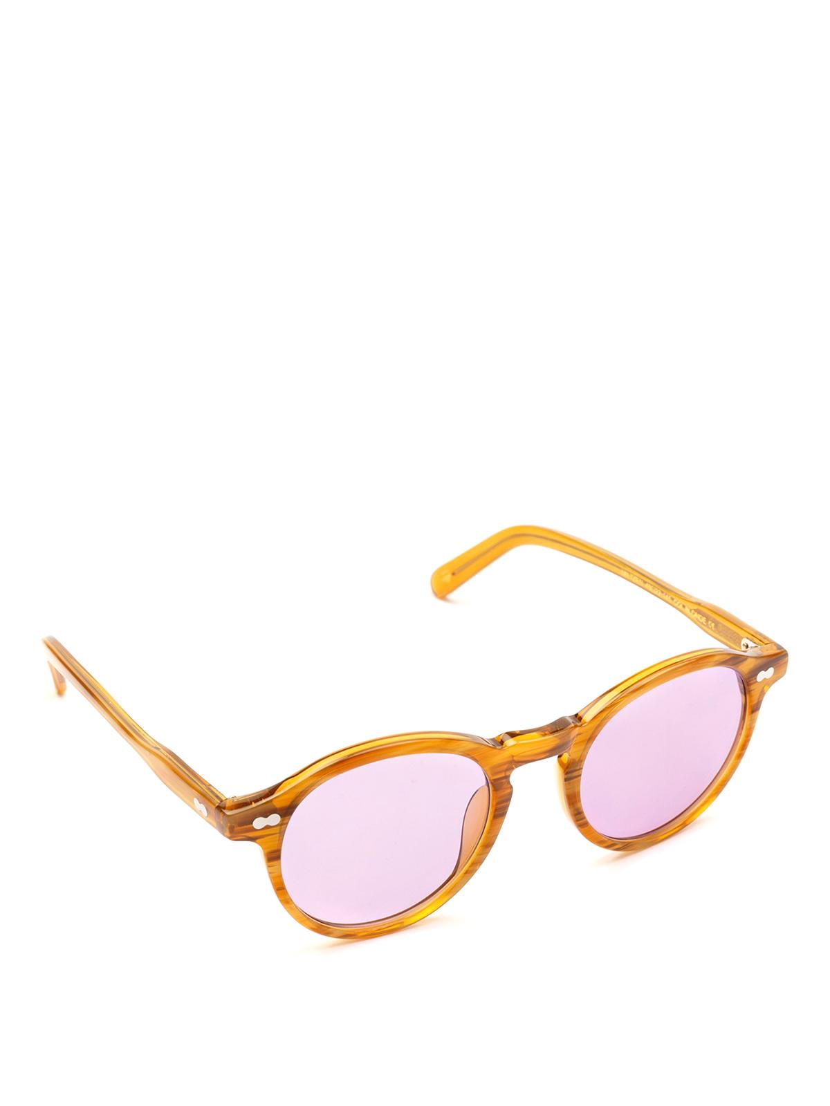 03d4f9b8f17 Moscot - Miltzen violet lens blonde sunglasses - sunglasses ...