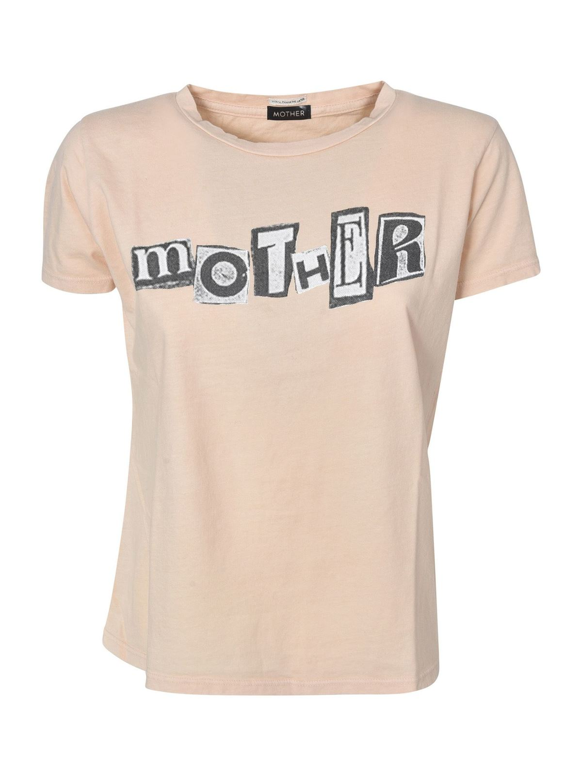 Mother ITTY BITTY GOODIE GOODIE T-SHIRT IN PINK