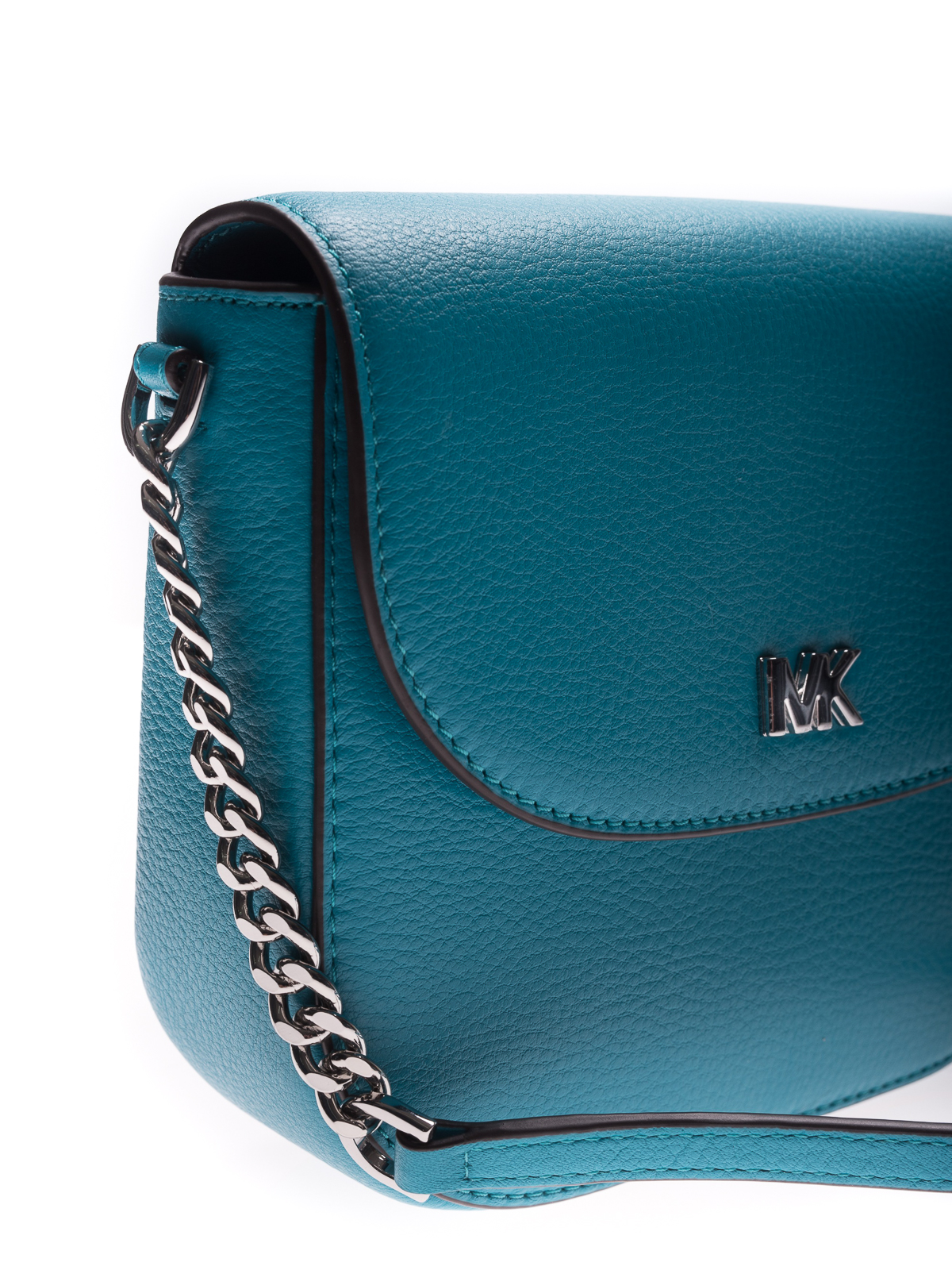 bfa443c35d73 Michael Kors - Mott blue leather dome crossbody - cross body bags ...