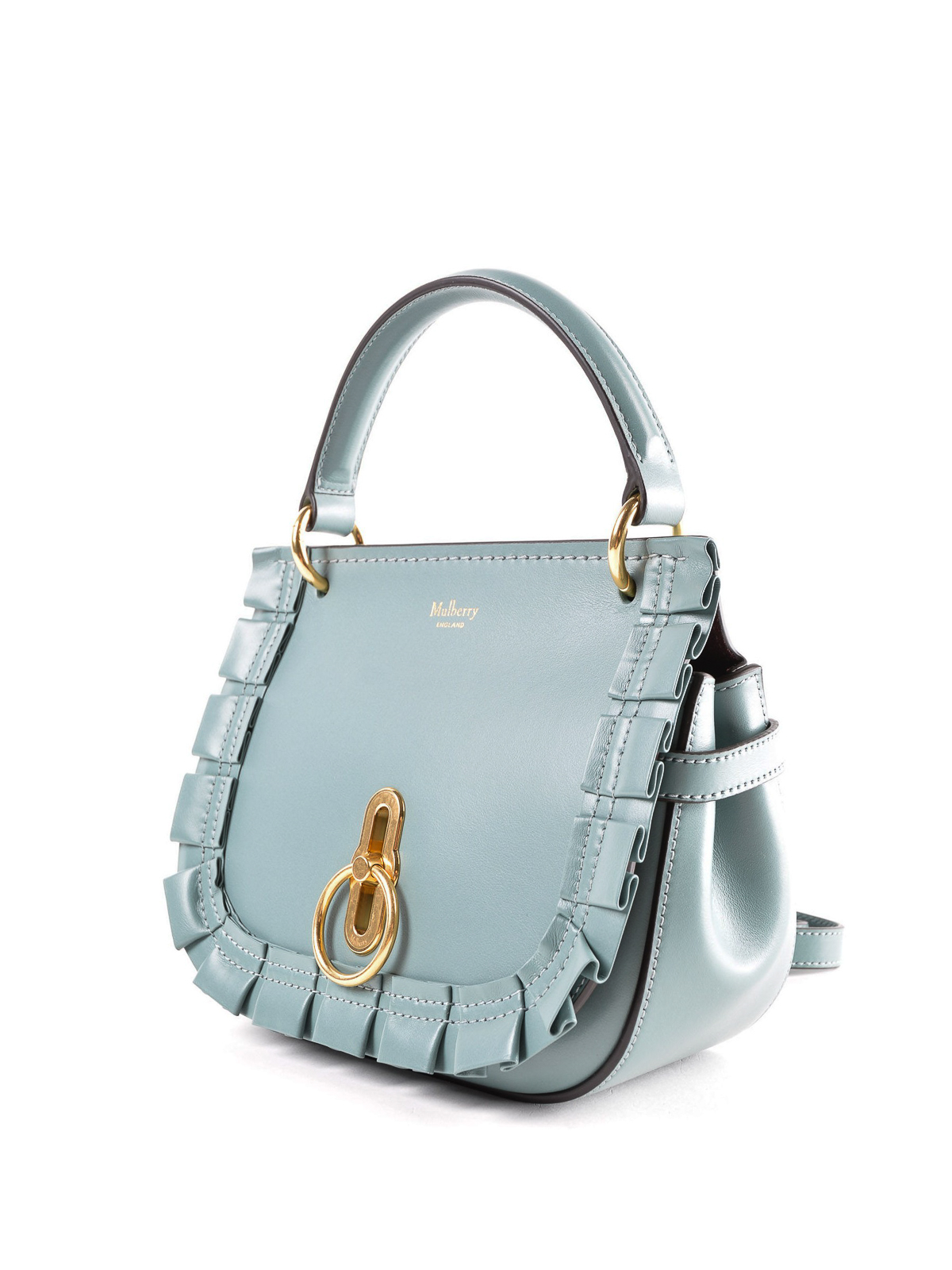 33c62dabe5 MULBERRY  cross body bags online - Amberley S light blue leather saddle bag