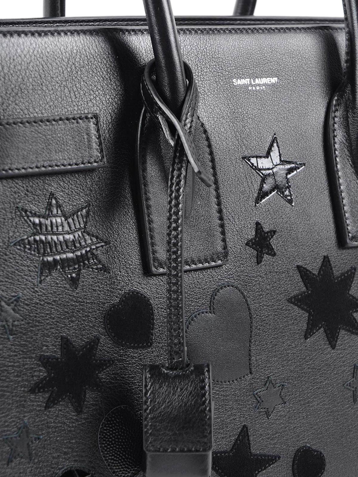 ffbf6d4d548f Saint Laurent - Multi-patch Sac de Jour baby bag - totes bags ...