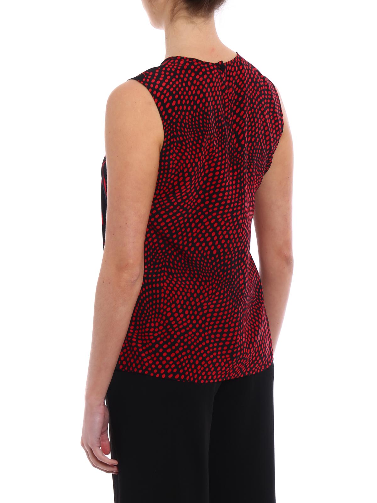 1a8a872e3c374 Diane Von Furstenberg - Multi pattern silk Sleeveless Shell - Tops ...