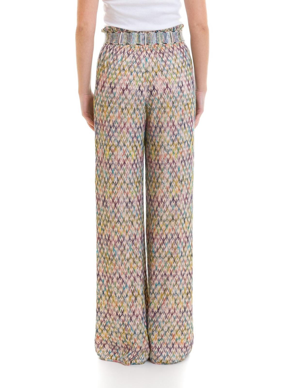 the latest 1e4a5 24dad Missoni - Pantaloni in jacquard goffrato con cintura ...