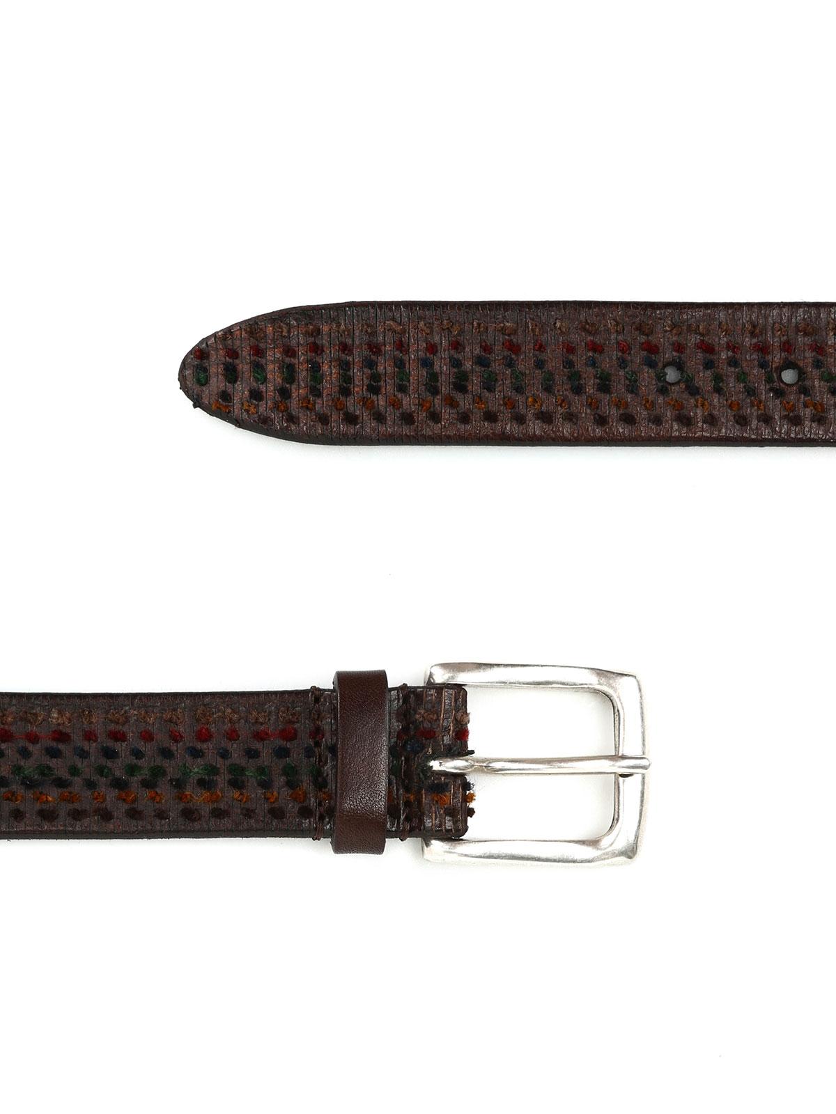 multicolour leather belt by s belts ikrix