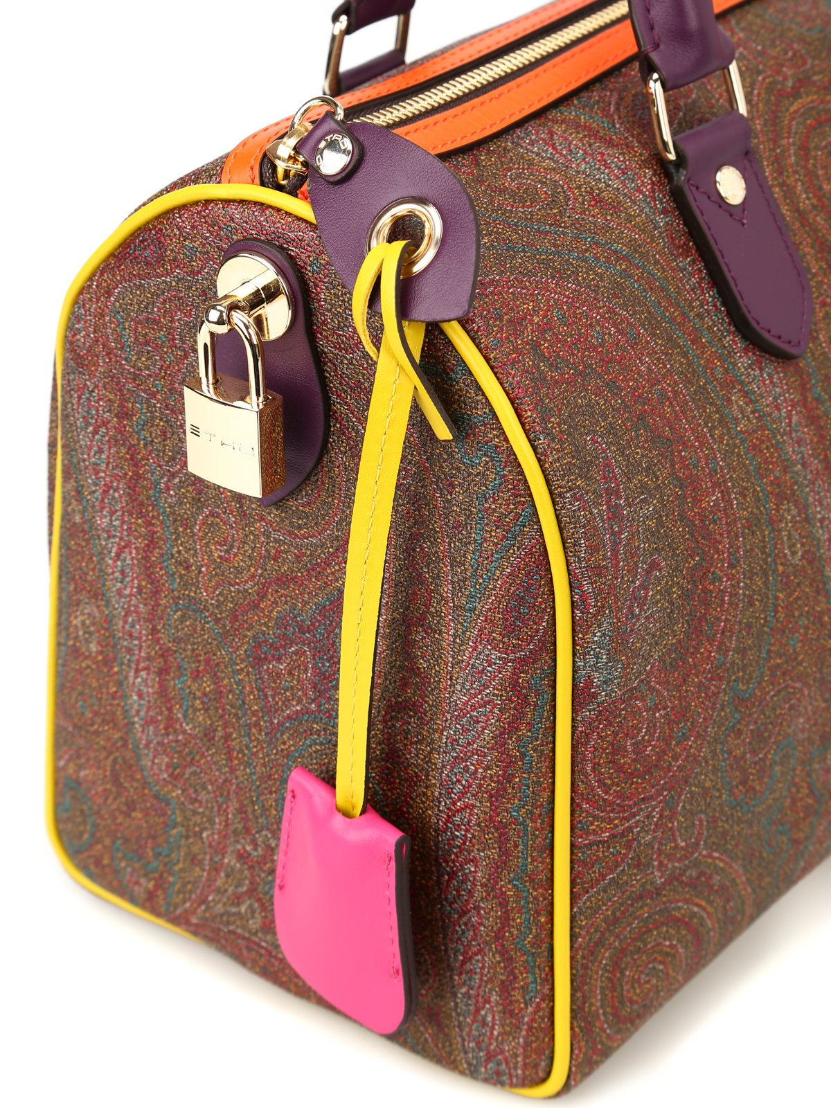 new product 833f9 1b18c Etro - Bauletto Paisley con bordi colorati - bauletti ...