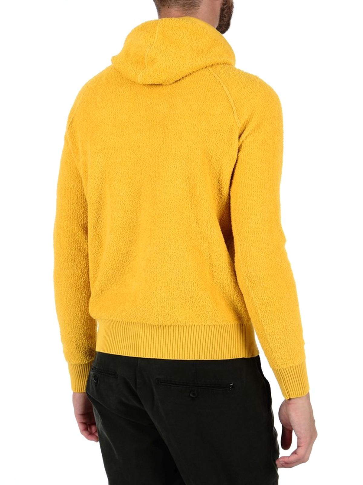 zarte Farben sehr bekannt beste Auswahl an Stone Island - Mustard terrycloth hoodie - Sweatshirts ...