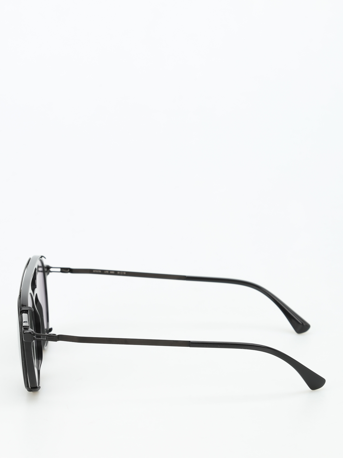 f2db9ed6114 Mykita - Miki optical glasses with clip-on - glasses - MIKIC2BLKBLK