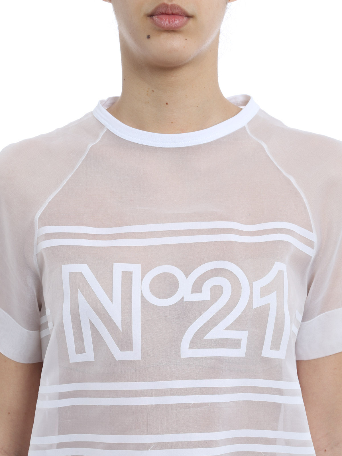 Silk and cotton t shirt by n 21 t shirts ikrix for Cotton silk tee shirts