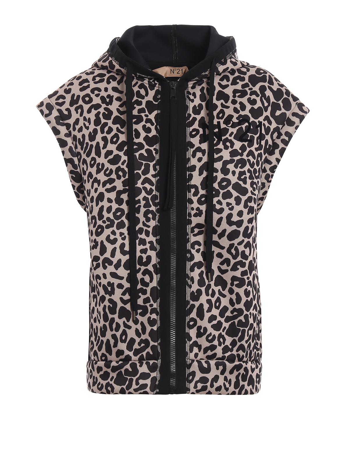 selezione premium aacca 92562 N°21 - Giacca smanicata in neoprene animalier - giacche ...