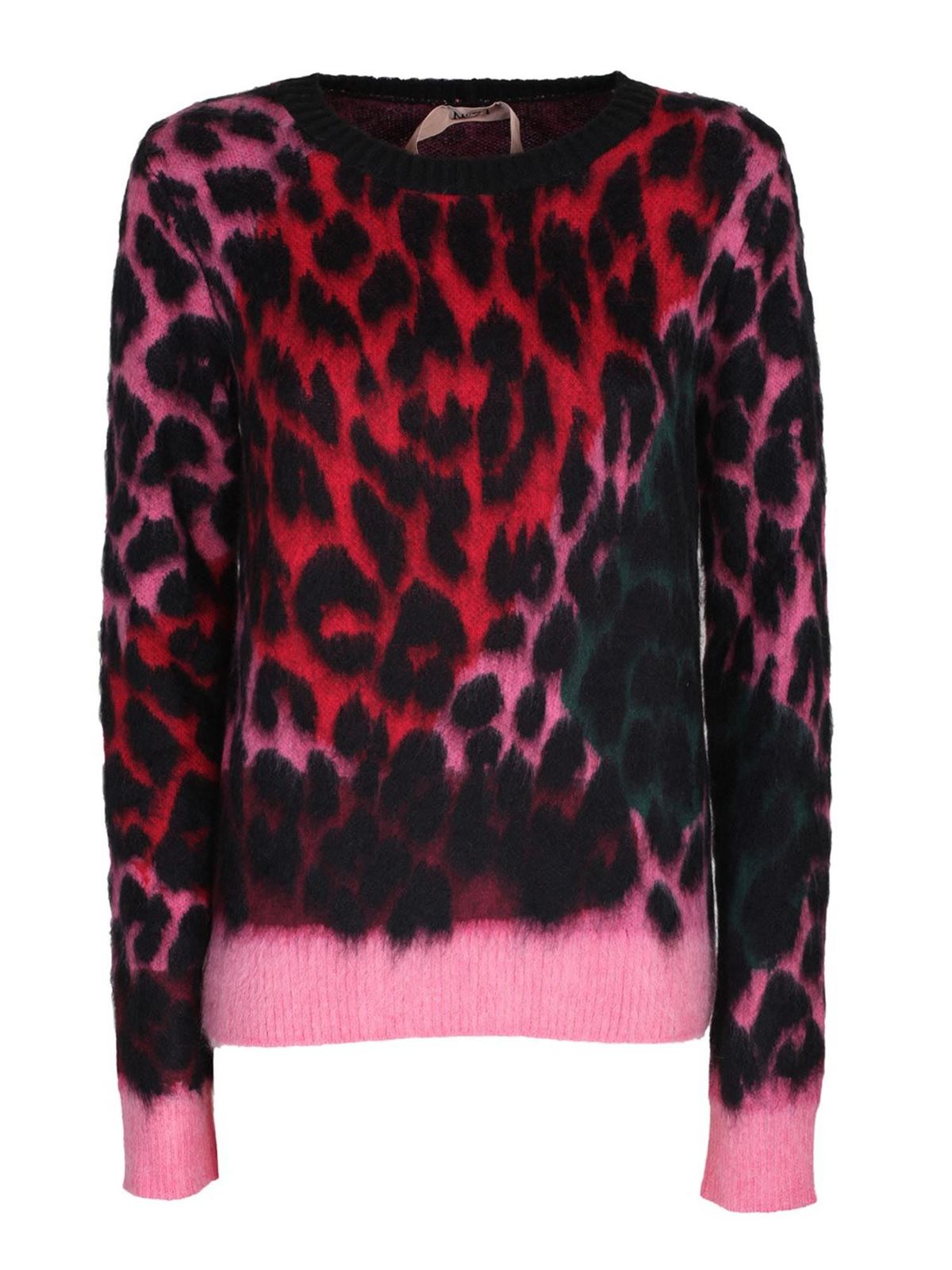 N°21 Sweaters ANIMALIER CREWNECK SWEATER