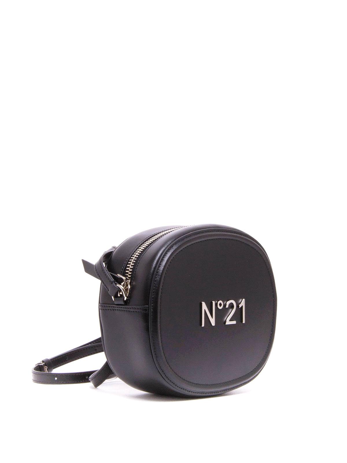 0648fd5b26 N°21: borse a tracolla online - Borsa in pelle con logo in metallo