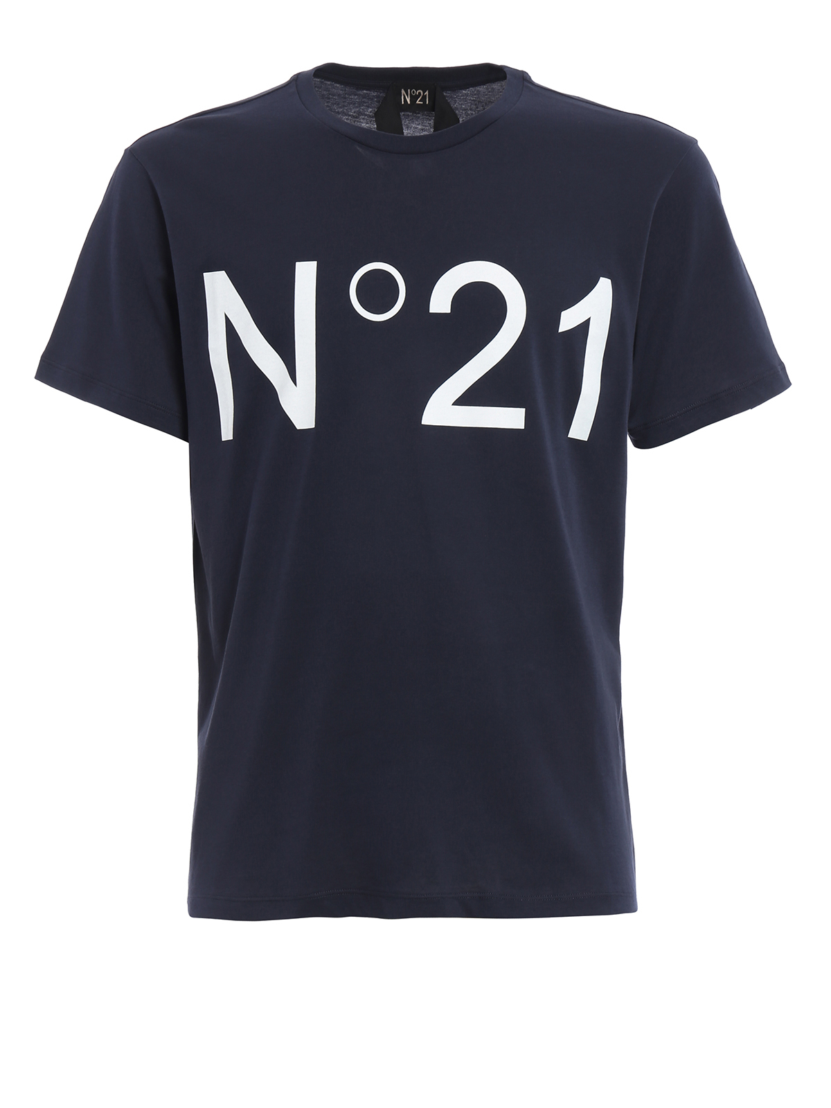 Logo print cotton tee by n 21 t shirts ikrix for Shirts with logo print