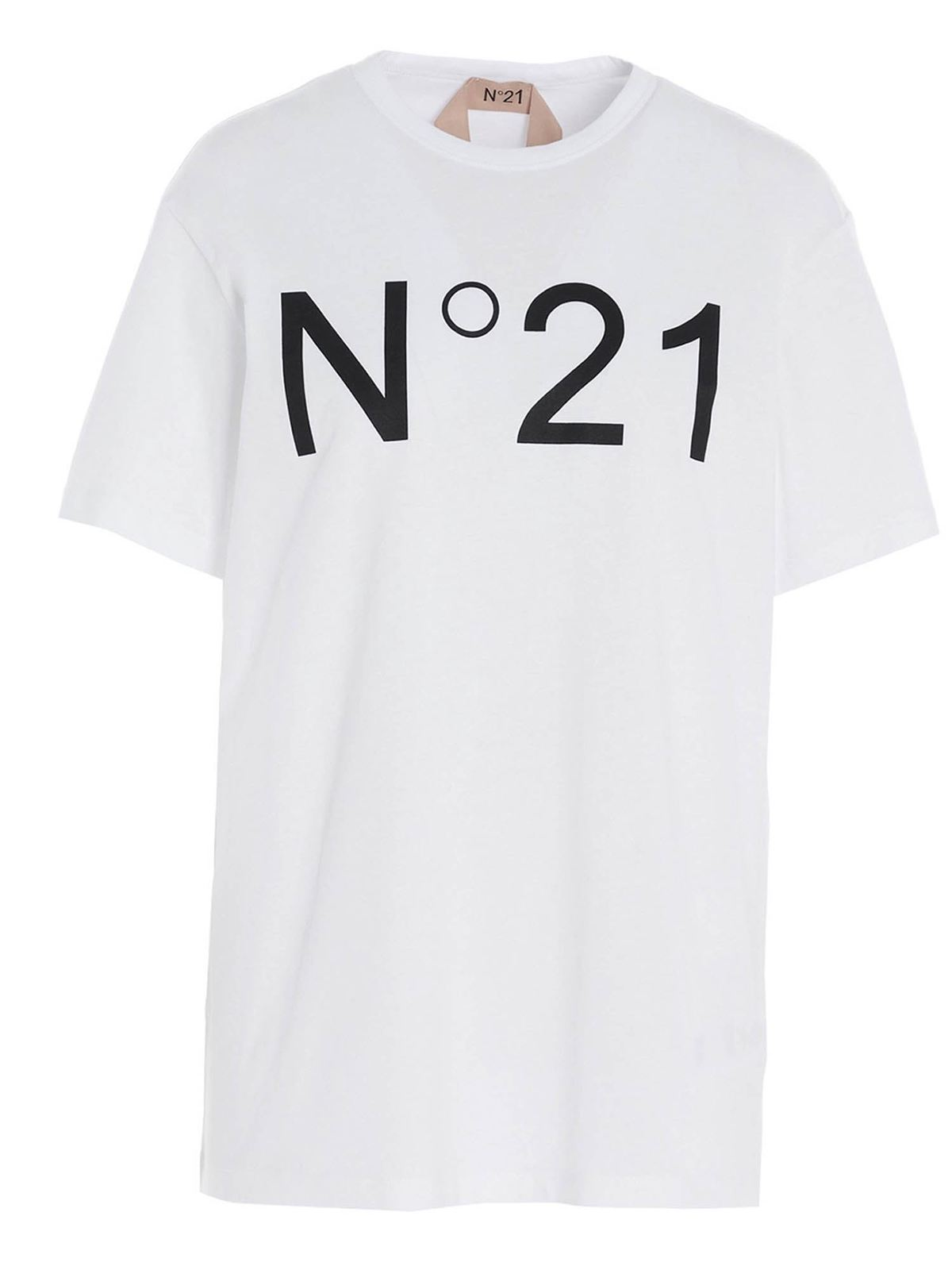 N°21 LOGO T-SHIRT IN WHITE