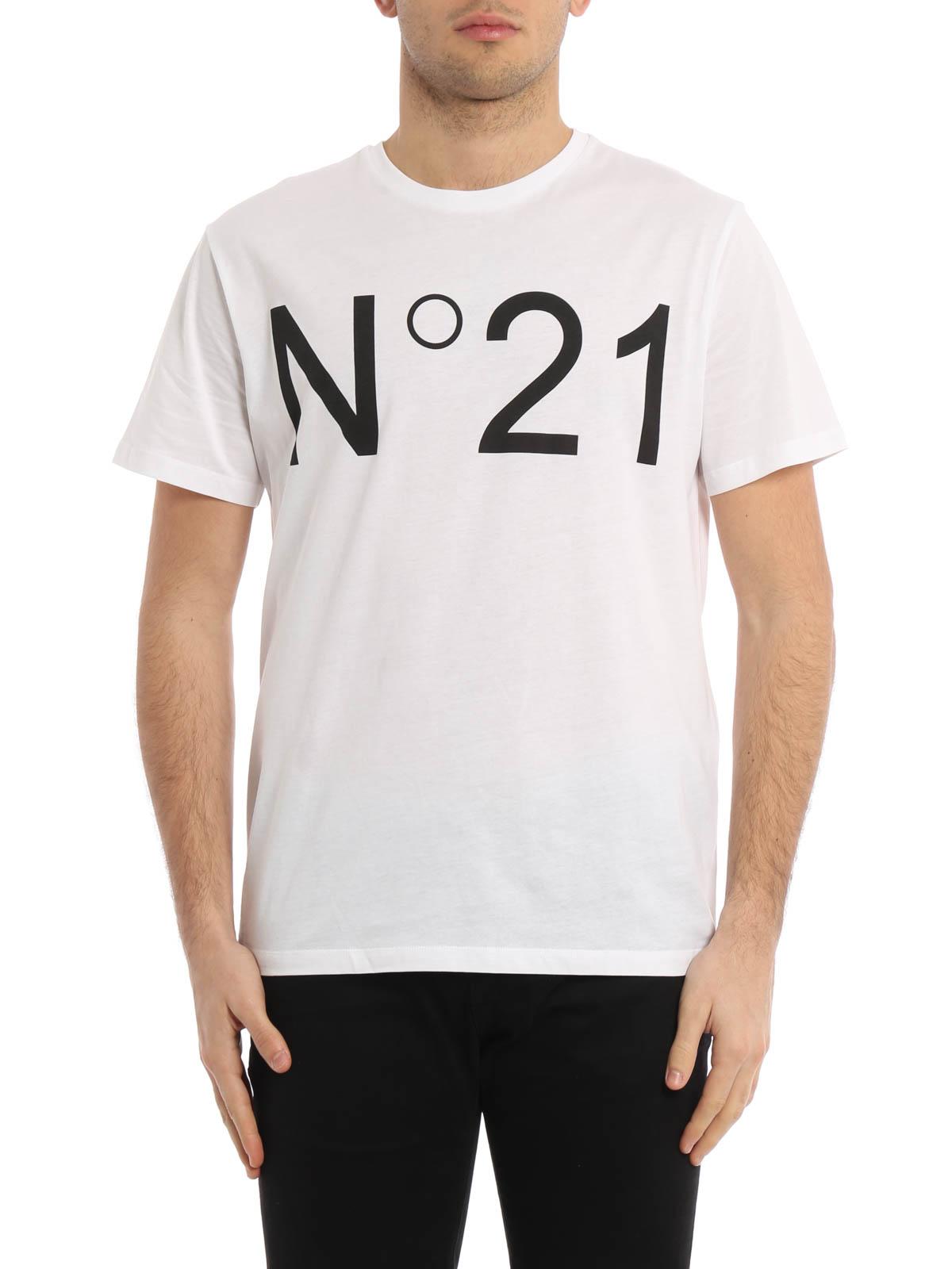 Logo Print T Shirt By N 21 T Shirts Ikrix